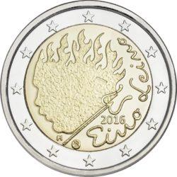 2 евро, Финляндия (90 лет со дня смерти Эйно Лейно)