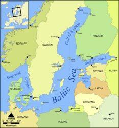 Карта акватории Балтийского моря