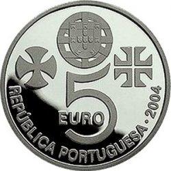 5 евро, Португалия (Крепость и монастырь в г.Томар)