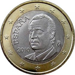 1 евро, Испания (тип 2)