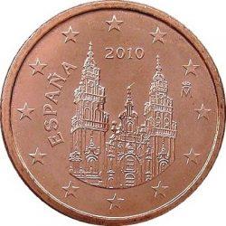 1 евроцент, Испания (тип 2)