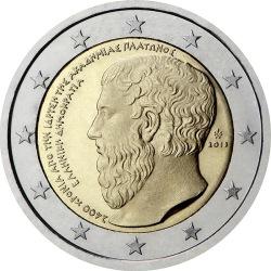 2 евро, Греция (2400 лет с основания Платоновской Академии)