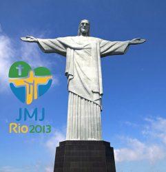 Символ Рио-де-Жанейро — Статуя Христа-Искупителя и логотип XXVIII Всемирного дня молодёжи