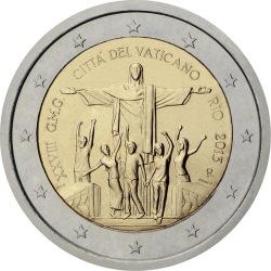 2 евро, Ватикан (XXVIII Всемирный день молодёжи в Рио-де-Жанейро)