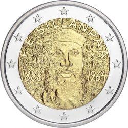 2 евро, Финляндия (125 лет со дня рождения Ф.Э.Силланпяя)