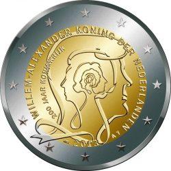 2 евро, Нидерланды (200 лет Королевству Нидерландов)