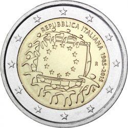 2 евро, Италия (30 лет флагу Европейского союза)