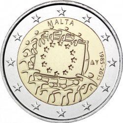 2 евро, Мальта (30 лет флагу Европейского союза)