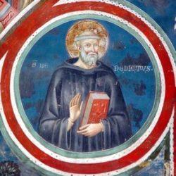 Бенедикт Нурсийский (фреска в монастыре Subiaco, Умбрия, Италия, ок. 550 г.)