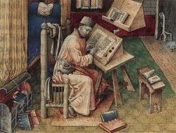 Средневековый монах-переписчик книг