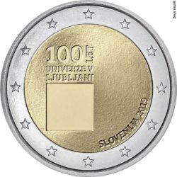 2 евро, Словения (100-летие Люблянского университета)
