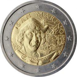 2 евро, Сан-Марино (500 лет со дня смерти Христофора Колумба)