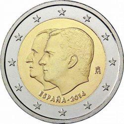 2 евро, Испания (Провозглашение Филиппа VI королём Испании)