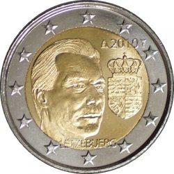 2 евро, Люксембург (Герб Великого герцога Люксембурга)