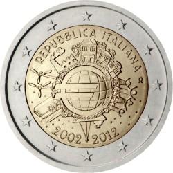 2 евро, Италия (10 лет наличному обращению евро)