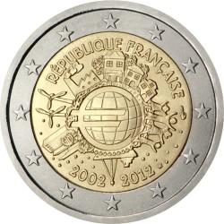 2 евро, Франция (10 лет наличному обращению евро)