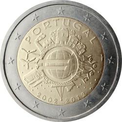 2 евро, Португалия (10 лет наличному обращению евро)