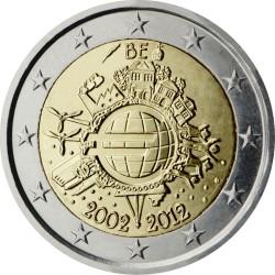 2 евро, Бельгия (10 лет наличному обращению евро)