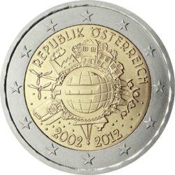 2 евро, Австрия (10 лет наличному обращению евро)