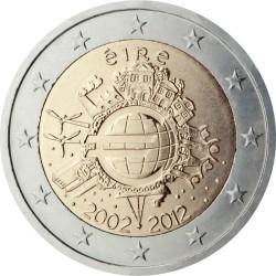 2 евро, Ирландия (10 лет наличному обращению евро)