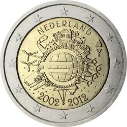 2 евро, Нидерланды (10 лет наличному обращению евро)