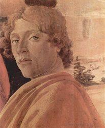 Сандро Боттичелли, автопортрет, фрагмент картины «Поклонение волхвов», ок 1475 г.