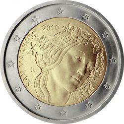 2 евро, Сан-Марино (500 лет со дня смерти Сандро Боттичелли)