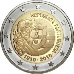 2 евро, Португалия (100 лет Португальской Республике)