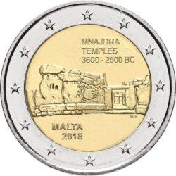 2 евро, Мальта (Храмы Мнайдра)