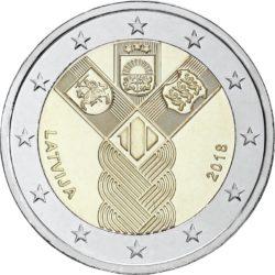 2 евро, Латвия (100-летие независимости прибалтийских государств)