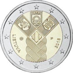 2 евро, Литва (100-летие независимости прибалтийских государств)