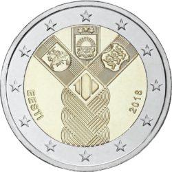 2 евро, Эстония (100-летие независимости прибалтийских государств)