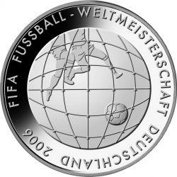 10 евро, Германия (3-я монета серии «Чемпионат мира по футболу 2006»)