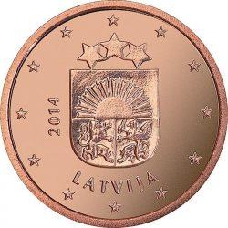 2 евроцента Латвии, аверс