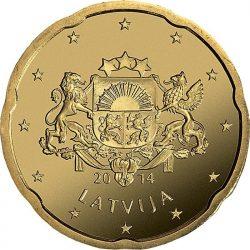 20 евроцентов Латвии, аверс