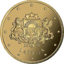 50 евроцентов Латвии, аверс