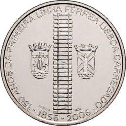 8 евро, Португалия (150 лет железной дороге в Португалии)