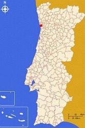 Порту на карте Португалии