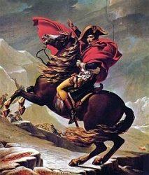 «Переход Наполеона через Альпы» (Луи Давид, 1800 г., Берлин, замок Шарлоттенбург)