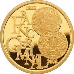 100 евро, Бельгия (200 лет французской монетной реформе 1803 г.)