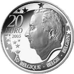 20 евро, Бельгия (Чемпионат мира по футболу 2006). аверс