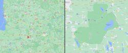 Биосферный резерват Жувинтас (справа) на карте Литвы (слева)