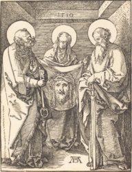 Святая Вероника между святыми Петром и Павлом (гравюра Альбрехта Дюрера, 1509 г. Национальная галерея искусства, США)