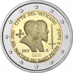2 евро, Ватикан (1950-летие мученической смерти святых Петра и Павла)
