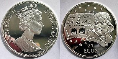 21 ЭКЮ Гибралтара 1993 года - Тоннель Наполеона Бонапарта