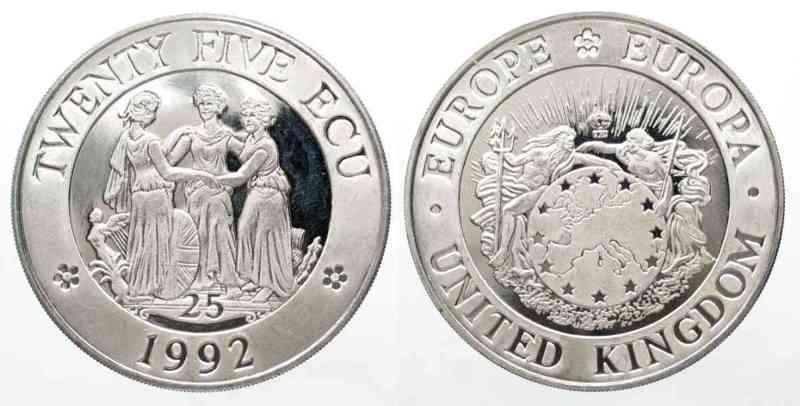 25 ЭКЮ Великобритании 1992 года
