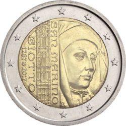 2 евро, Сан-Марино (750 лет со дня рождения Джотто ди Бондоне)
