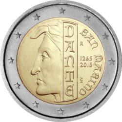2 евро, Сан-Марино (750 лет со дня рождения Данте Алигьери)