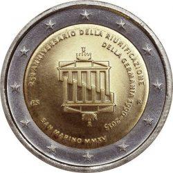 2 евро, Сан-Марино (25-летие объединения Германии)