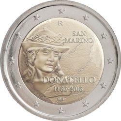2 евро, Сан-Марино (550 лет со дня смерти Донателло)